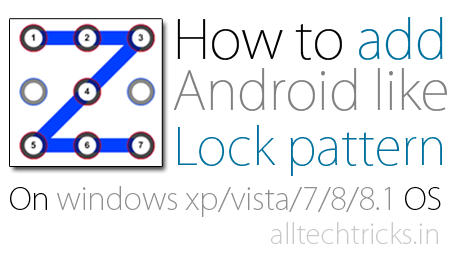 How to set Pattern Lock on Windows OS